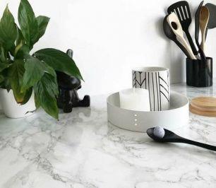 Folie autocolanta d-c-fix pentru mobilier model Marmura gri cu alb cod 200-8095 - Marmura