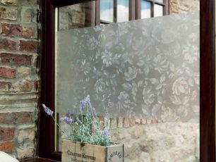 Folie autocolanta d-c-fix pentru sticla model translucid Floral cod 200-8325 - Autocolant Geam