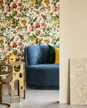 Tapet flori pasari Eijffinger colectia Museum cod 307301 - Tapet floral