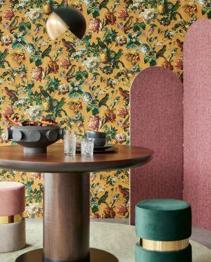 Tapet flori pasari Eijffinger colectia Museum cod 307303 - Tapet floral