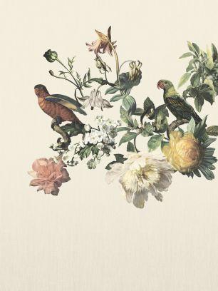 Tapet flori pasari Eijffinger colectia Museum panel cod 307401 - Tapet floral