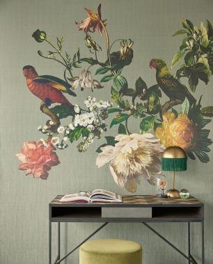 Tapet flori pasari Eijffinger colectia Museum panel cod 307402 - Tapet floral
