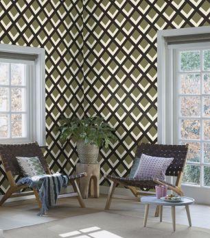 Tapet geometric Rasch colectia Denzo II cod 401936 - Tapet bucatarie