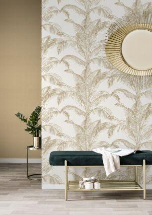 Tapet frunze palmier colectia Sansa Rasch cod 406818 - Tapet piatra-lemn-beton
