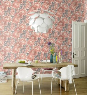 Tapet floral Rasch colectia Home Design cod 408331 - Tapet dormitor