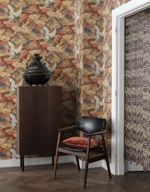 Tapet floral Rasch colectia Home Design cod 409345 - Tapet dormitor
