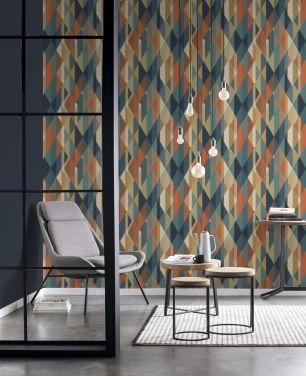 Tapet geometric Zoya Rasch colectia Elegantza 2023 cod 477436 - Tapet modern