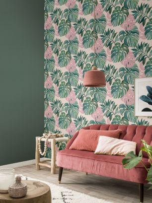 Tapet frunze exotice colectia Sansa Rasch cod 526615 - Tapet frunze