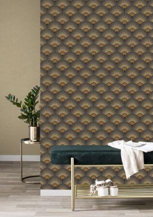 Tapet geometric Zoya Rasch colectia Elegantza 2023 cod 637625 - Tapet bucatarie