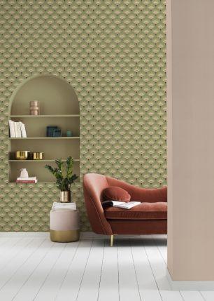 Tapet geometric Zoya Rasch colectia Elegantza 2023 cod 637656 - Tapet bucatarie