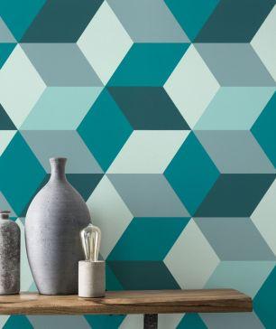 Tapet geometric Rasch colectia Sansa cod 638110 - Tapet abstract