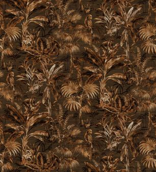 Tapet tropical, cu maimute colectia Lemuria panel cod 6592 - Tapet urban