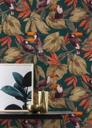 Tapet jungle Rasch colectia Denzo II cod 807509 - Tapet bucatarie