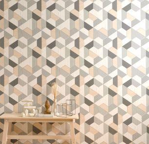 Tapet geometric Rasch colectia Sansa cod 831207 - Tapet abstract