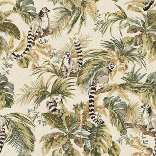Tapet tropical, cu lemurieni colectia Lemuria cod 6501 - Tapet bucatarie