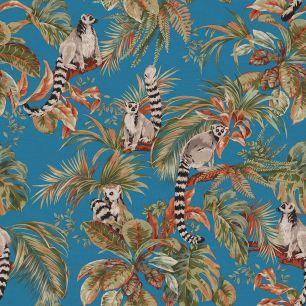 Tapet tropical, cu lemurieni colectia Lemuria cod 6502 - Tapet bucatarie