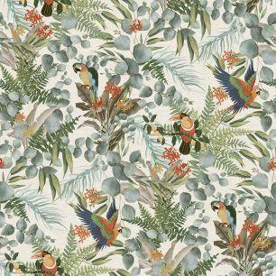 Tapet tropical, cu papagali colectia Lemuria cod 6520 - Tapet bucatarie