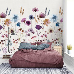 Fototapet flori pictate colectia Colorful cod INK7286 - Promotii tapet