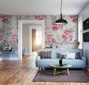 Fototapet floral trandafiri roz colectia Colorful cod INK7292 - Promotii tapet