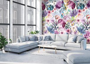 Fototapet flori pictate colectia Colorful cod INK7296 - Promotii