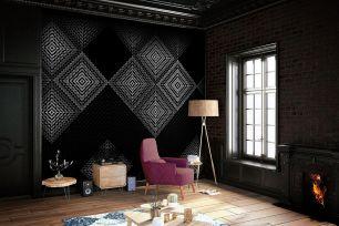 Fototapet geometric cu efect 3D colectia Light & Dark cod INK7351 - Tapet clasic
