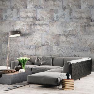 Fototapet beton cu efect 3D colectia Passion For Materials cod INK7371 - Tapet piatra-lemn-beton