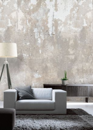 Fototapet beton cu efect 3D colectia Passion For Materials cod INK7372 - Tapet piatra-lemn-beton