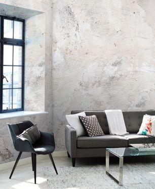 Fototapet beton cu efect 3D colectia Passion For Materials cod INK7373 - Tapet piatra-lemn-beton