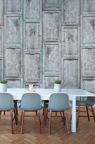 Fototapet lemn cu efect 3D colectia Passion For Materials cod INK7383 - Tapet piatra-lemn-beton