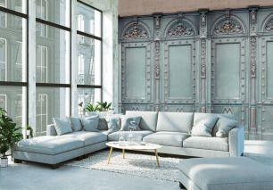 Fototapet elegant Paris cu efect 3D colectia Passion For Materials cod INK7398 - Tapet industrial