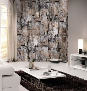 Fototapet lemn cu efect 3D colectia Passion For Materials cod INK7408 - Tapet piatra-lemn-beton