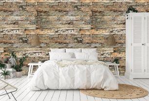 Fototapet lemn cu efect 3D colectia Passion For Materials cod INK7409 - Tapet piatra-lemn-beton