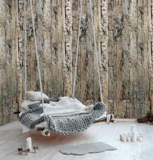 Fototapet lemn cu efect 3D colectia Passion For Materials cod INK7410 - Tapet piatra-lemn-beton