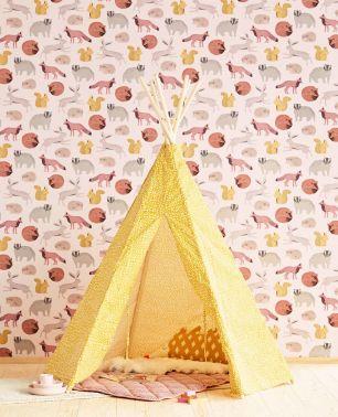 Tapet copii cu animale Eijffinger colectia Mini Me cod 399052 - Tapet camera copii