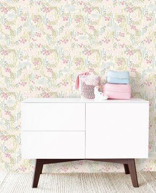 Tapet copii flori Eijffinger colectia Mini Me panel cod 399118 - Tapet camera copii