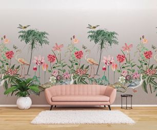Fototapet floral exotic flamingo colectia Select.D cod TD4137 - Tapet floral