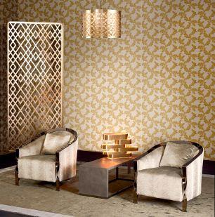 Tapet clasic floral auriu colectia Modern&Classic Design cod Z72042 - Tapet clasic