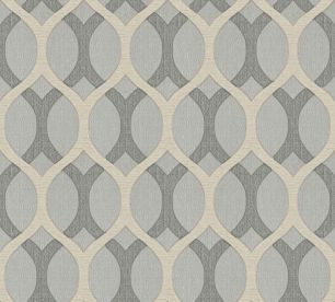 Tapet geometric gri cu bej colectia Modern&Classic Design cod Z72037 - Tapet clasic