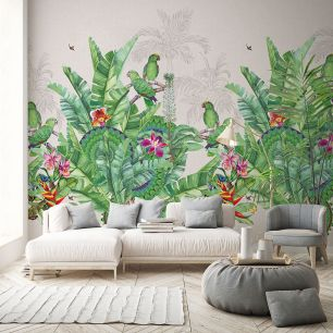 Fototapet floral papagali colectia Select.D cod TD4103 - Tapet floral