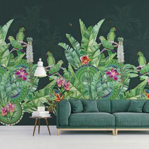 Fototapet floral exotic papagali colectia Select.D cod TD4110 - Tapet floral