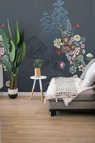 Fototapet floral jungle tigru colectia Select.D cod TD4131 - Tapet urban