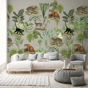 Fototapet jungle frunze animale colectia Select.D cod TD4114 - Tapet floral