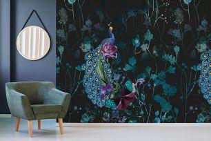 Fototapet floral exotic pauni colectia Select.D cod TD4129 - Tapet urban
