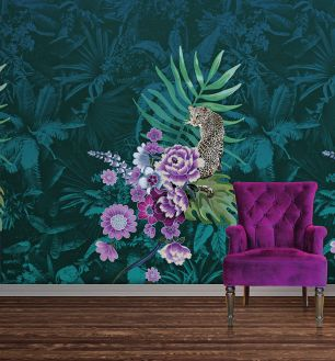Fototapet floral exotic tigru colectia Select.D cod TD4130 - Tapet urban